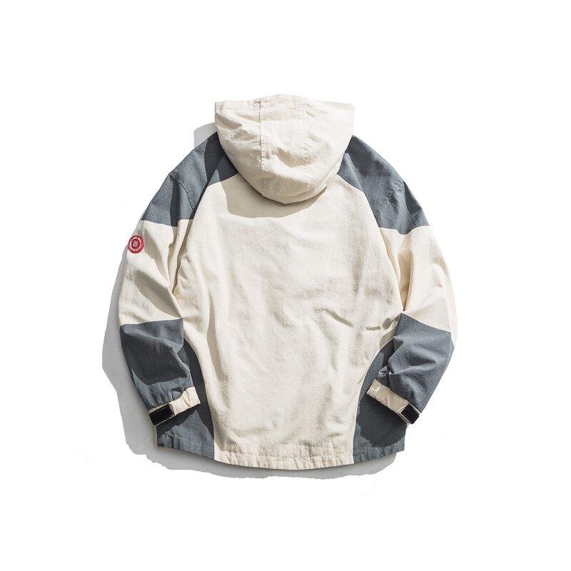 LINAGI里奈子【D78-91758】工裝日系復古寬鬆貼標刺繡夾克外套