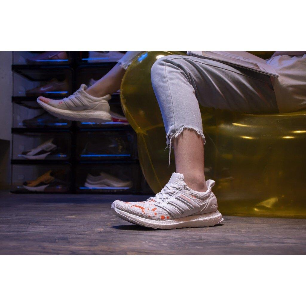 【日本海外代購】ADIDAS Ultra BOOST X MADNESS 白 白橘 余文樂 潑墨 休閒 慢跑鞋 男女鞋 EF0143
