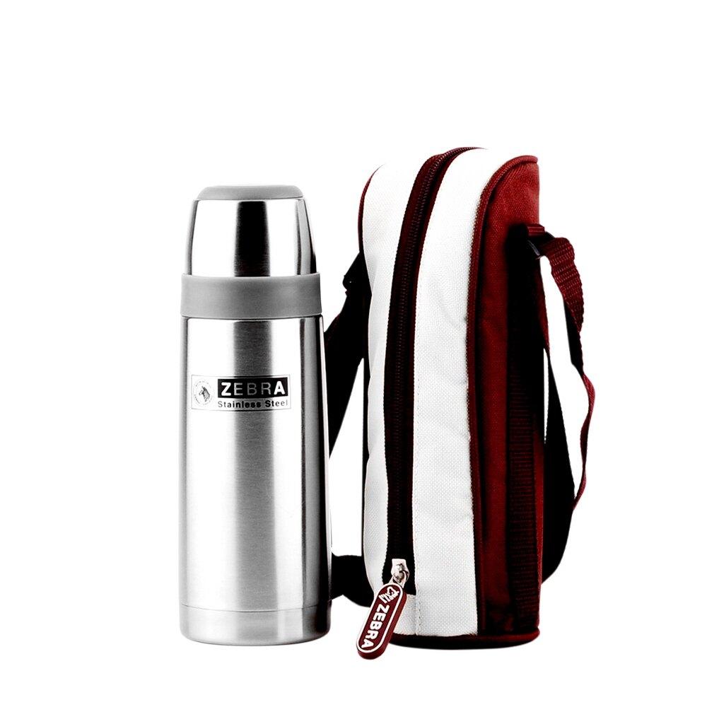 ZEBRA 斑馬牌 真空瓶-附套 / 1.0L / 304不銹鋼 / 真空 / 保溫瓶 / 保溫杯
