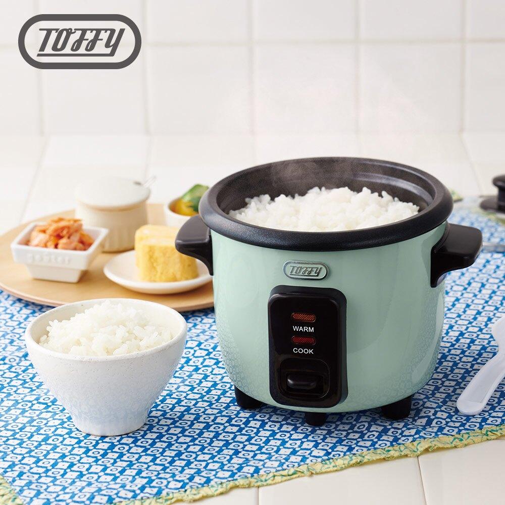 可愛馬卡龍色系超迷你電飯鍋。19分鐘快速炊飯