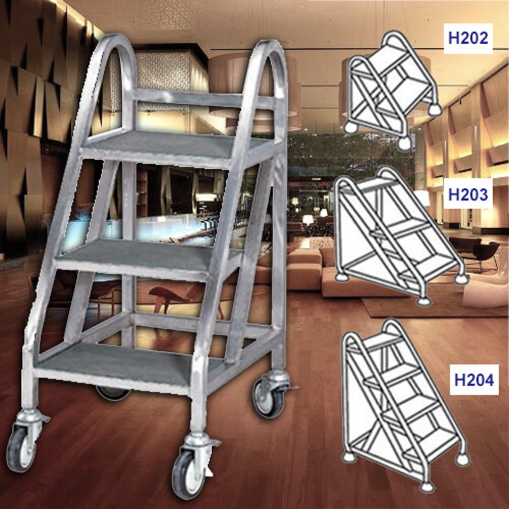 【企隆 圍欄 飯店用品】四階式事務梯/H204