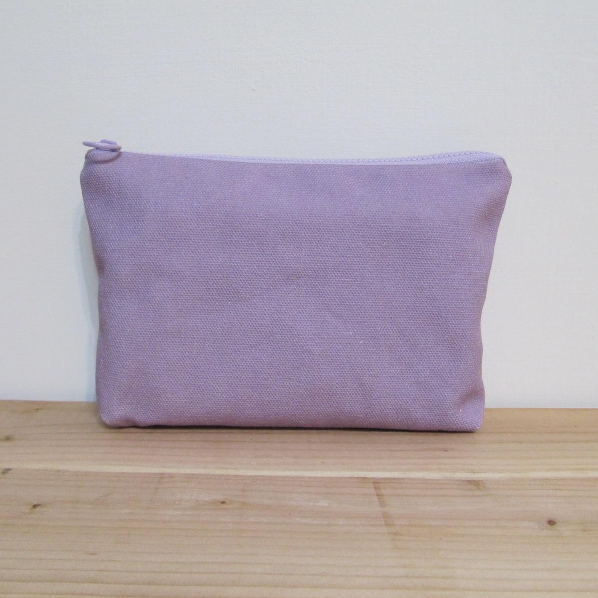 【Lilytata 淺紫色 薰衣草 收納包 20x15x4cm】印花 收納包 化妝包
