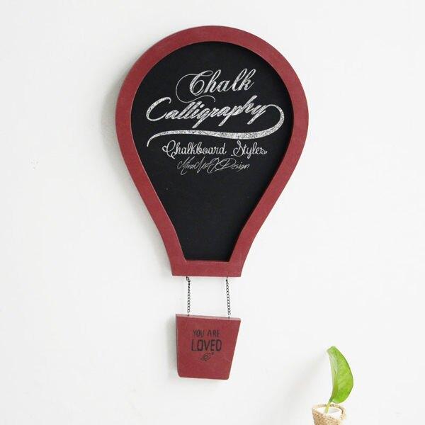 可愛美式複古彩色熱氣球 兒童房裝飾黑板留言板