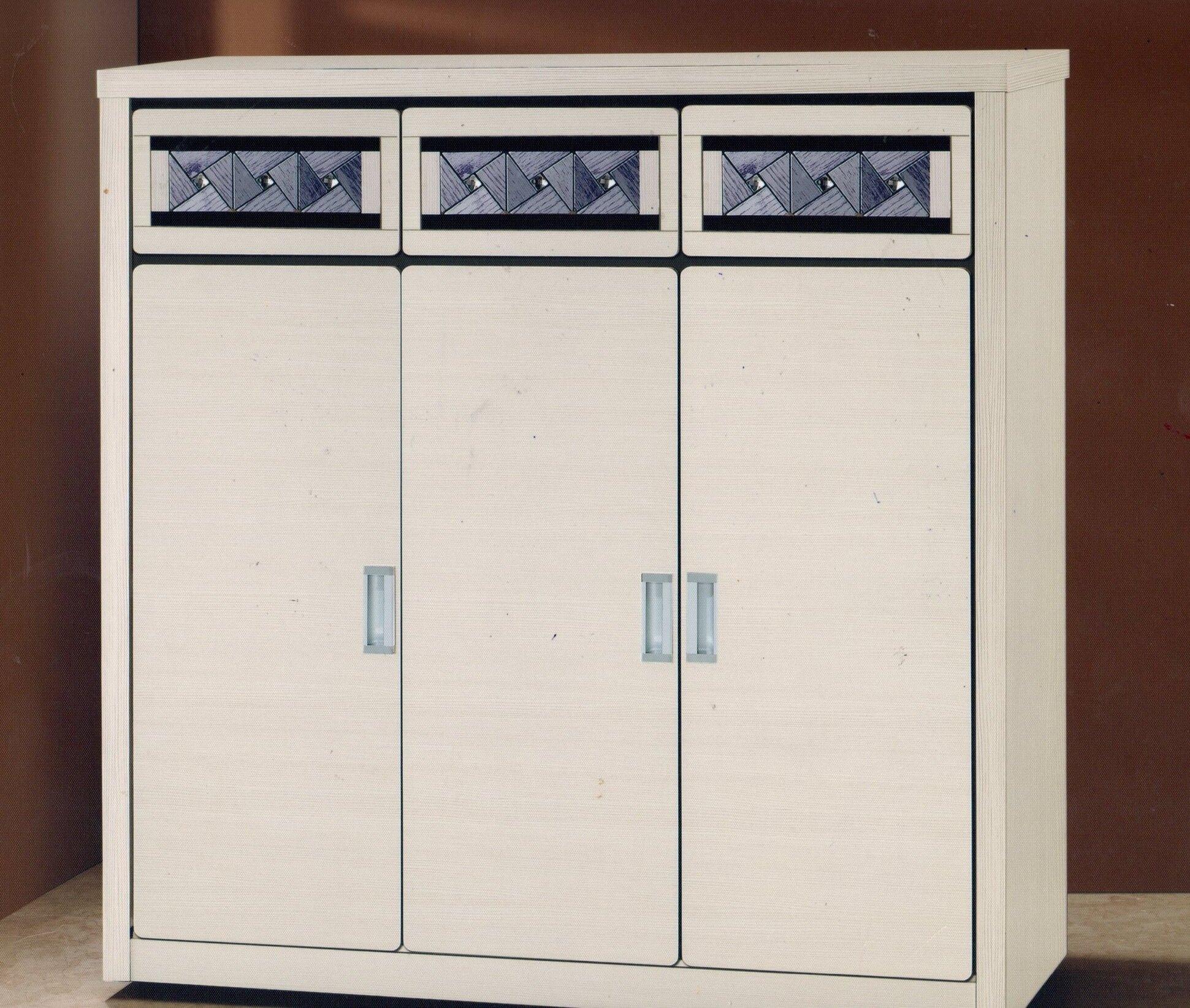 【尚品家具】649-33 白雪黑玻4x4尺鞋櫃(另有其他尺寸)