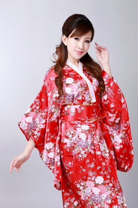 東方美人旗袍唐裝專賣店 中國風百花盛開印花布和服☆共三色