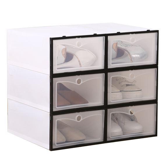 加厚透明塑膠鞋盒男女鞋子收納盒簡易組合鞋盒子防塵收納箱整理箱