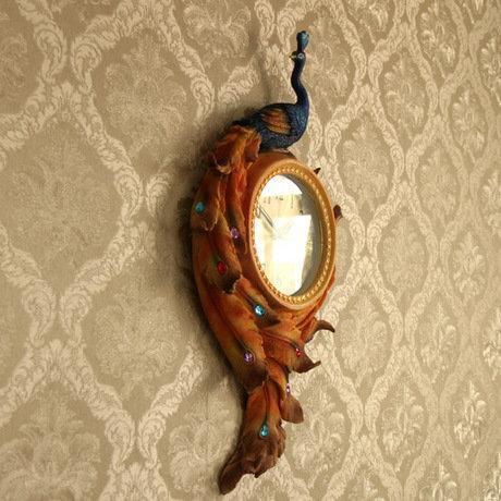 高檔創意掛鐘時鐘客廳個性時尚複古牆上裝飾品掛飾壁掛