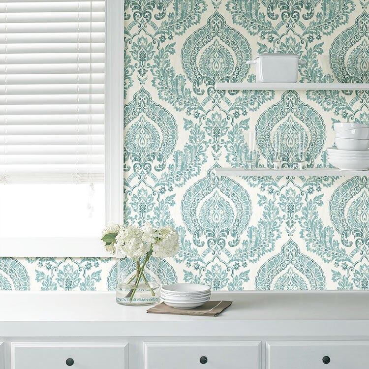 浴室防水貼紙 大馬士革壁貼 客廳壁貼 DIY貼紙 美國製 NU1702