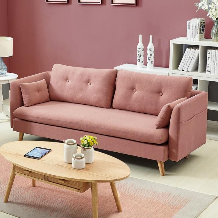 北歐小戶型羽絨乳膠布藝沙發簡約三人客廳可拆洗沙發組合