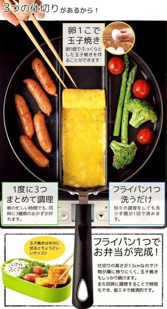 日本品牌【Arnest】三分割煎鍋 A-76728