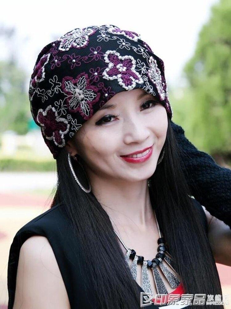 帽子女韓版潮時尚夏天月子帽夏季薄款化療帽民族春夏風頭巾包頭帽