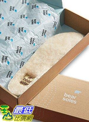 [美國直購] Honey Soles 羊毛暖暖鞋墊 (SIZE F, Men's 11.5 - 13 USA) Bear Natural Sheepskin Insoles