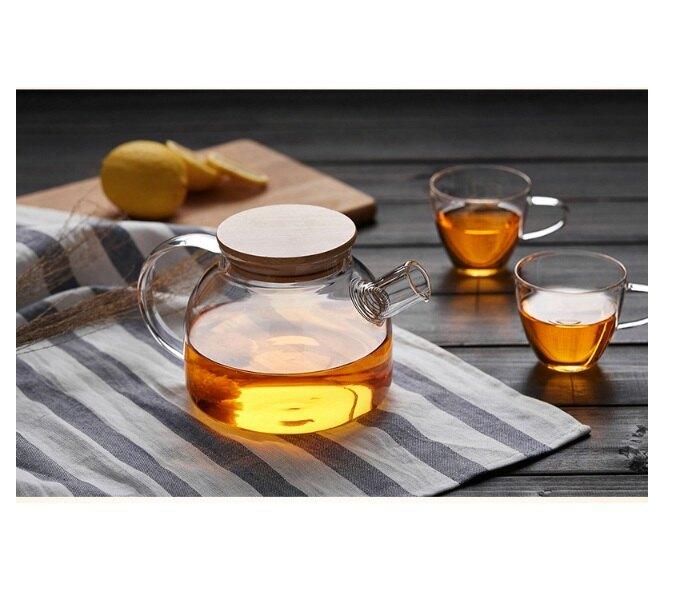 茶壺 歐式庭院透明茶壺 茶具 茶組   歐式茶壺 水壺 泡茶 茶具組 露營 造型茶壺 玻璃茶壺