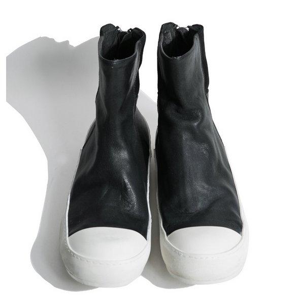 FINDSENSE MD 日系 高品質 時尚 潮 男 拉鏈 高幫 低跟休閒鞋 短靴