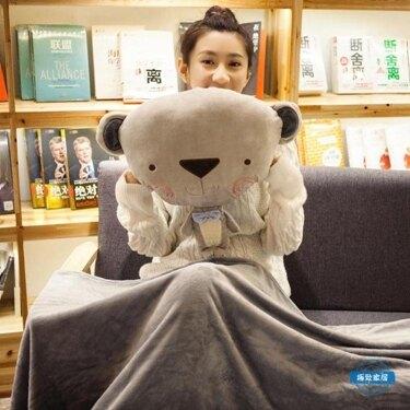 午睡枕靠枕汽車抱枕被子兩用靠墊辦公室午睡枕珊瑚絨午休毯子冷氣被 尾牙年會禮物