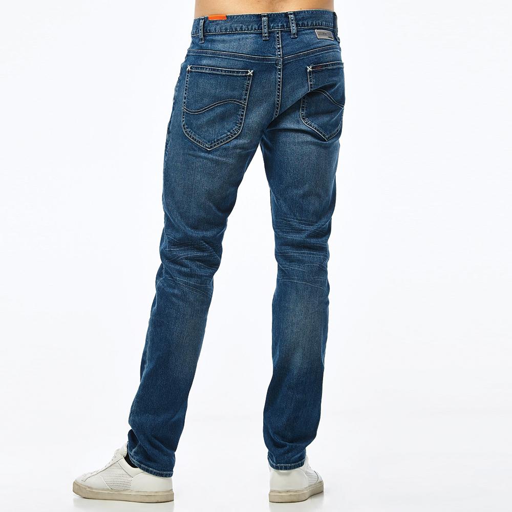 【全館免運 | 滿額↘再折$150】❆涼感褲❆Lee 726 中腰舒適小直筒牛仔褲 Urban Riders Jade Fusion 男款 中藍