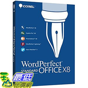 [106美國直購] 2017美國暢銷軟體 Corel WordPerfect Office X8 Standard