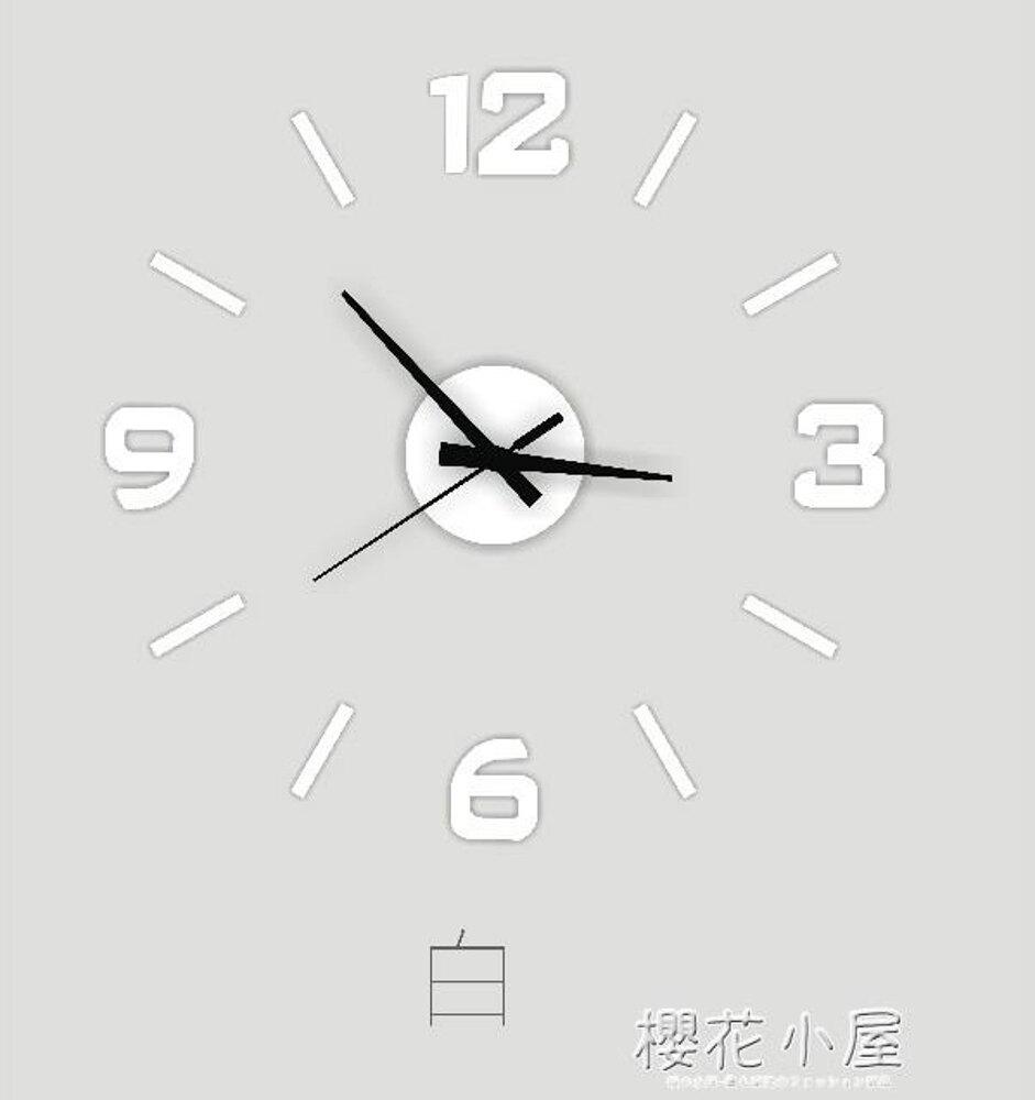 創意新品時鐘客廳掛鐘高檔亞克力diy數字立體可移除裝飾墻貼掛錶林之舍家居
