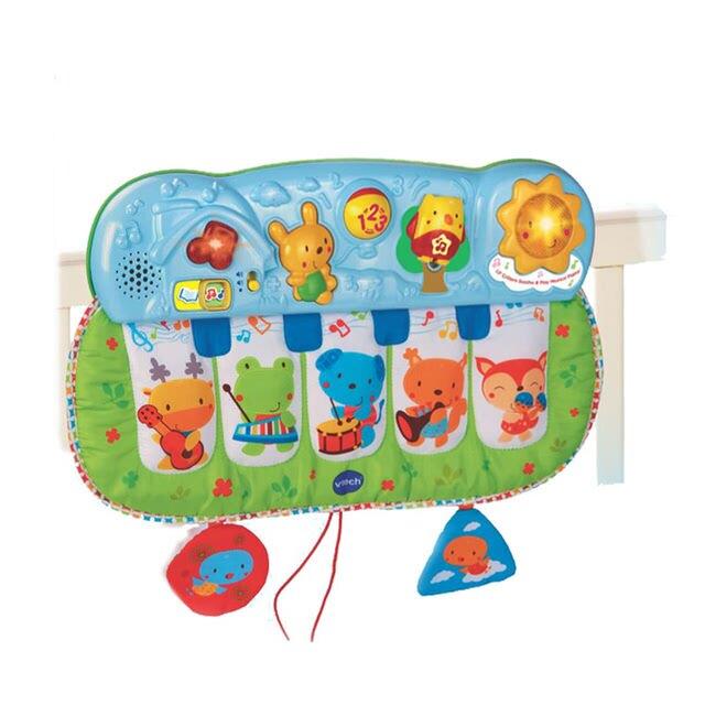 【品牌滿$1688限量送餐盤組x1】美國 Vtech 寶貝踢踢小鋼琴(快樂兒童首選玩具)