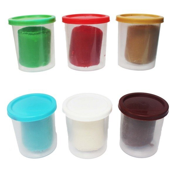 6色入彩色黏土補充罐 NO-6848 /一盒入(定150) ST安全玩具 彩泥土 彩色泥土 童玩捏麵-生K571
