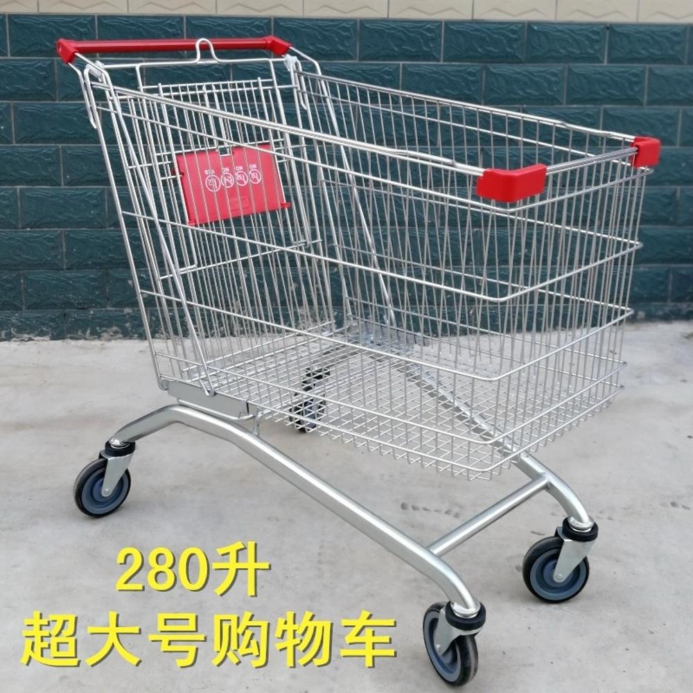 購物車 超市購物車物業手推車家用買菜車商場購物車超市大容量購物手推車JD   全館八五折