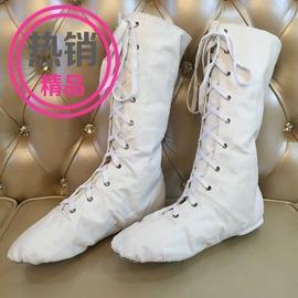 白色真皮-筒高35cm252016外貿款真皮長筒舞蹈鞋高幫爵士靴表演靴跳舞靴加長舞蹈鞋靴