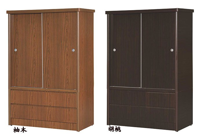 【尚品家具】☆特別優惠☆K-637-07白橡4x6 雙抽推門衣櫥/衣櫃/收納櫃/櫥櫃~共五色