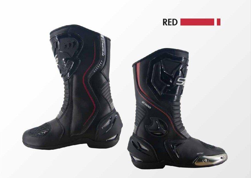 ~任我行騎士部品~ SPRS 速比爾 RS-T100 經典基本款 車靴 賽車靴 長靴 黑紅