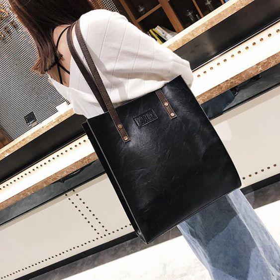 托特包大包包秋冬新款女包歐美復古簡約公事包時尚手提包斜背包潮包