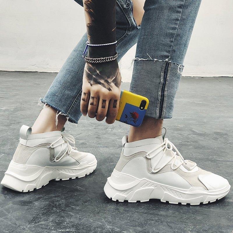FINDSENSE品牌 四季款 新款 日本 男 高品質 純色 簡約 個性  舒適透氣 耐磨 運動 繫帶 休閒鞋 潮流鞋子