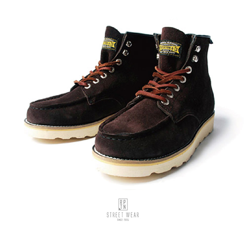 REPUTATION - 方頭高筒靴 / 棕