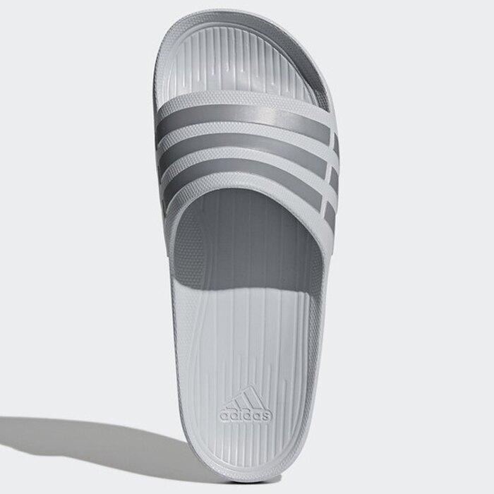 【全館滿額88折】【現貨】Adidas Duramo Slide 男鞋 女鞋 拖鞋 防水 海灘 一體成形 灰【運動世界】 B44298