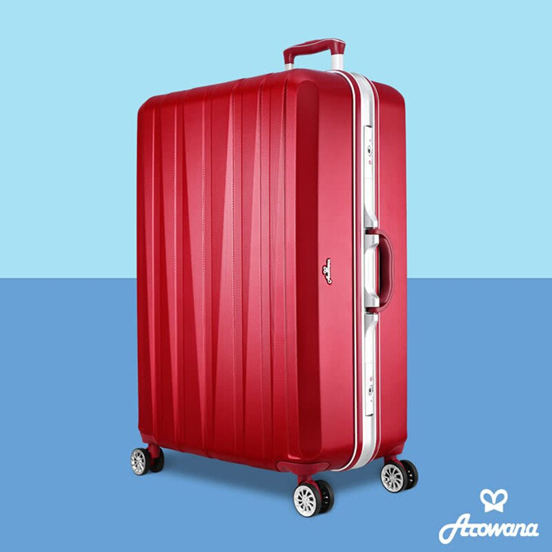 晶燦光影29+25吋鑽石紋耐刮鋁框旅行箱/行李箱(多色任選)【Z90627】