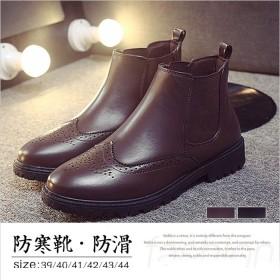 ワークブーツ ショートブーツ メンズ 防水 ビジネス サイドジャップ 靴 カジュアル ショート 暖かい
