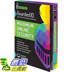 [106美國直購] 2017美國暢銷軟體 GuardedID Keystroke Encryption Software | 2 Devices | PC, Mac