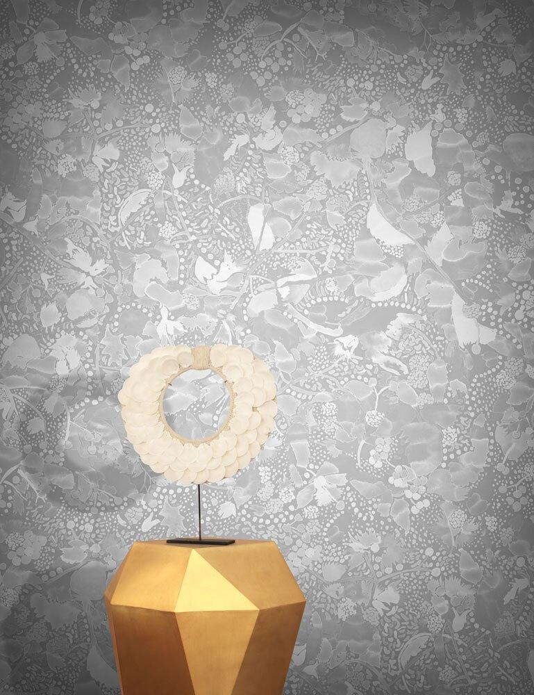 FEATHR / La Cueillette Grise 壁紙 (訂貨單位50cm10m/卷)