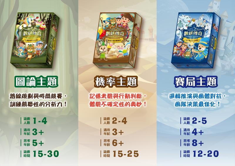 數感傳奇 三部曲 大全套 繁體中文版 高雄龐奇桌遊 正版桌遊專賣