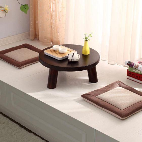 飄窗桌子小茶幾日式簡約茶桌炕桌實木矮桌陽臺地臺創意榻榻米茶幾