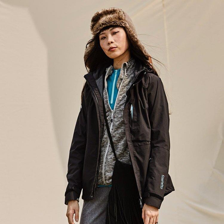 ADISI 女二件式防水透氣保暖外套 AJ1821011