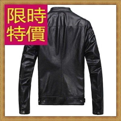 真皮皮衣羊皮夾克-立領修身時尚男機車外套62u98【義大利進口】【米蘭精品】
