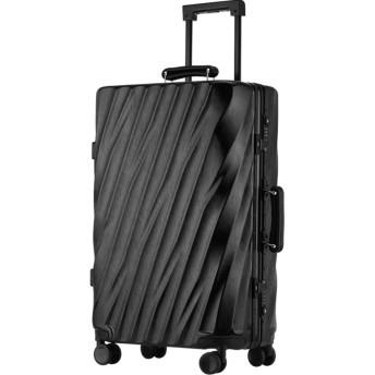 スーツケース スーツケース男性の潮のパスワードパーソナリティトラベルボックスキャスターの韓国語バージョンは、アルミフレームの荷物のトロリーケースの女性を座っていることができます (Color : Black, Size : 24)