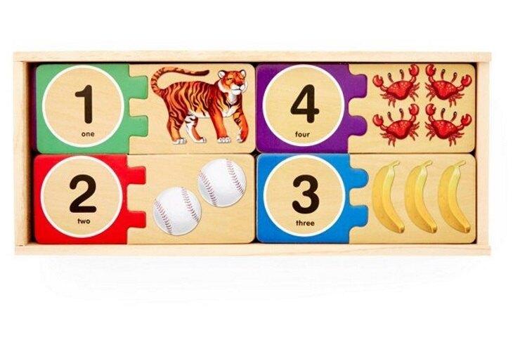 美國瑪莉莎 Melissa & Doug 數字對照學習拼圖卡