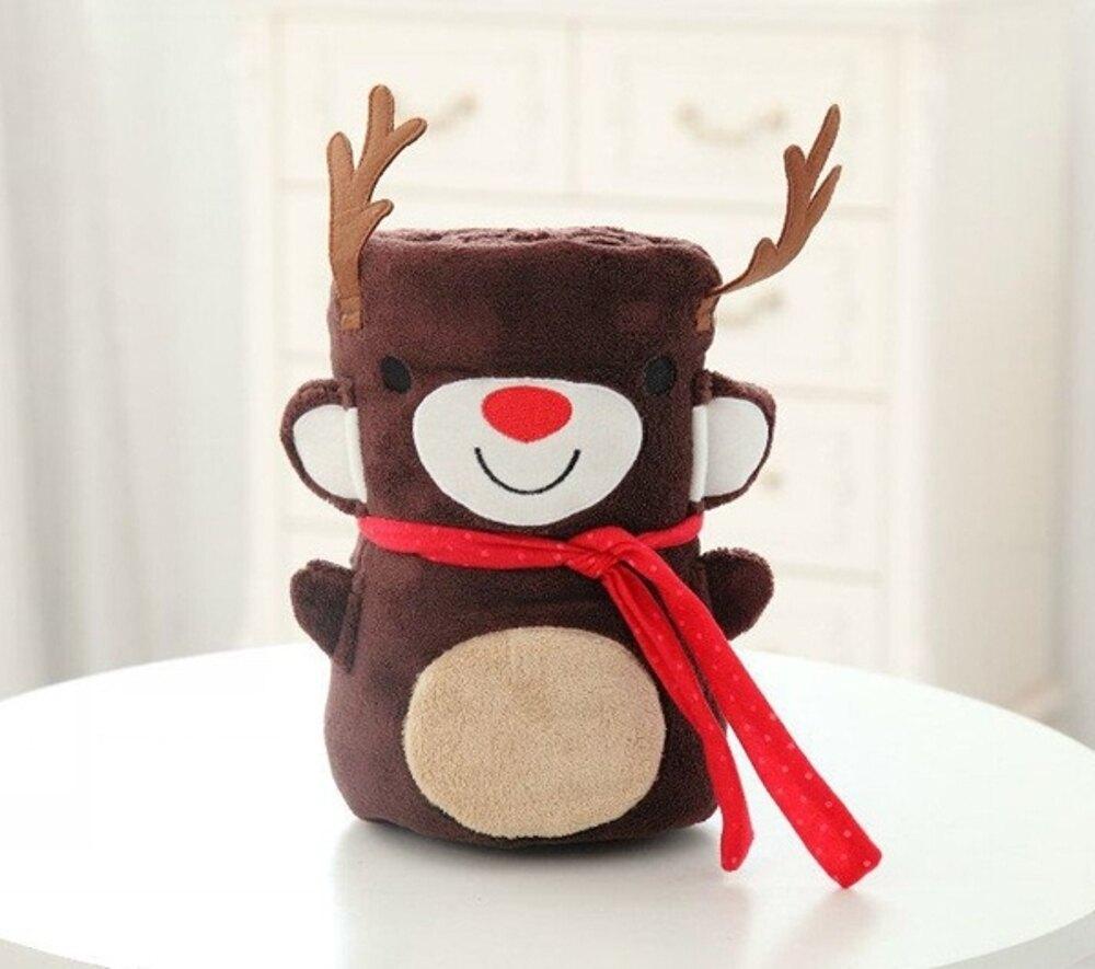 ✤宜家✤可愛聖誕節禮物生日禮物 娃娃毯 抱枕毯 午休毯 兒童毯 (大)
