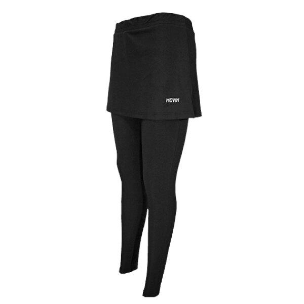 MOVIN 女版 一片裙式緊身褲 慢跑褲 運動褲 假兩件式  彈性修身 台灣製 (1237B)Lucky Shop