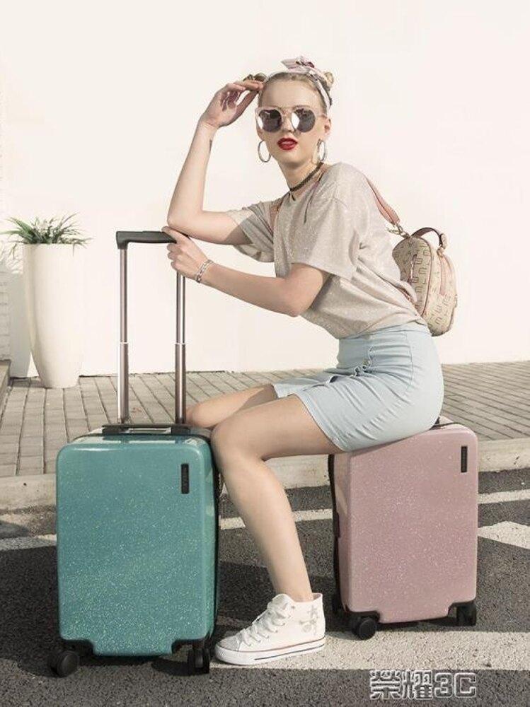 行李箱 行李箱萬向輪少女拉桿箱女20寸韓版旅行箱小清新大學生密碼箱 JD 清涼一夏特價