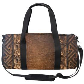 キャリーオンバッグ ボストンバッグ 2WAYショルダーバッグ 大容量 旅行バッグ 機内持ち込み トラベルバッグ ウッドアート柄