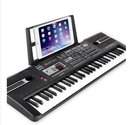 電子琴 兒童電子琴女孩鋼琴初學3-6-12歲61鍵麥克風寶寶益智早教音樂玩具