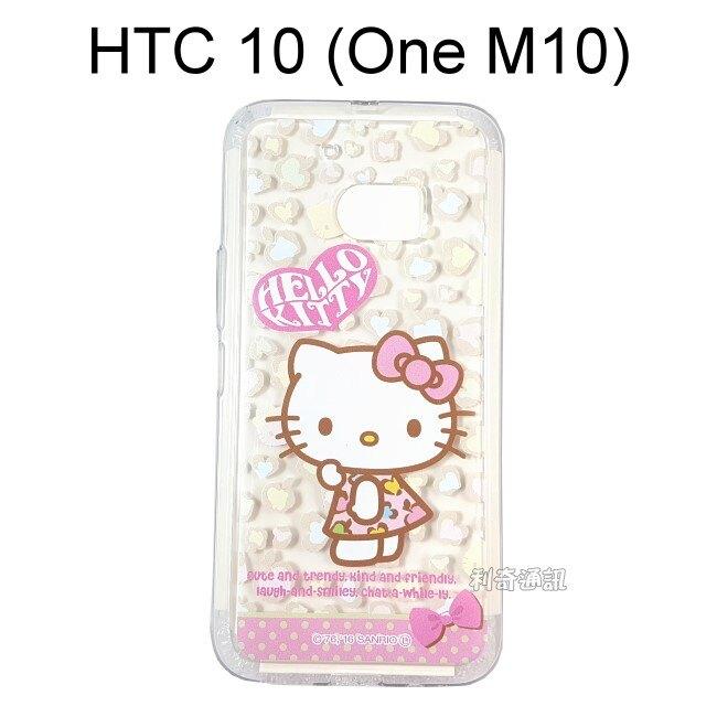 Hello Kitty 透明軟殼 [豹紋] HTC 10 (One M10)【三麗鷗正版授權】