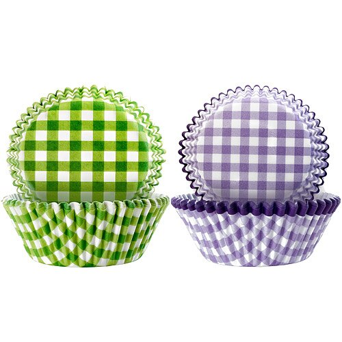 《IBILI》Sweet蛋糕紙模100入(綠紫格紋7.5cm)
