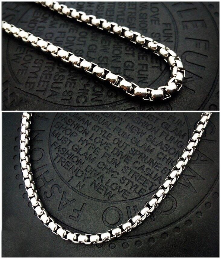 316L醫療鋼項鍊 3mm方環鏈米蘭鏈珍珠鏈 純鏈子-銀 防抗過敏 不退色